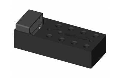 Befestigungselement mit Zwickel für Mäntel 80mm ESINPLAST Scharniere