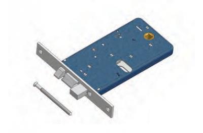 Riegel und Fallenschloss Omec Aluminium Range Electric