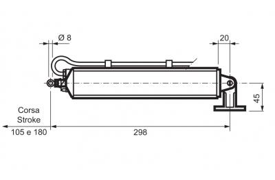 Antriebsstange WAY Mingardi 180mm Hub für Gills T D4
