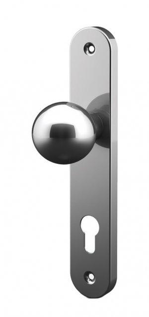 Kugelknopf mit Platte aus Edelstahl Tropex