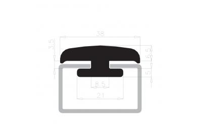 Glashaltedichtung steht COMPLASTEX 10mm White Box Spule 25m