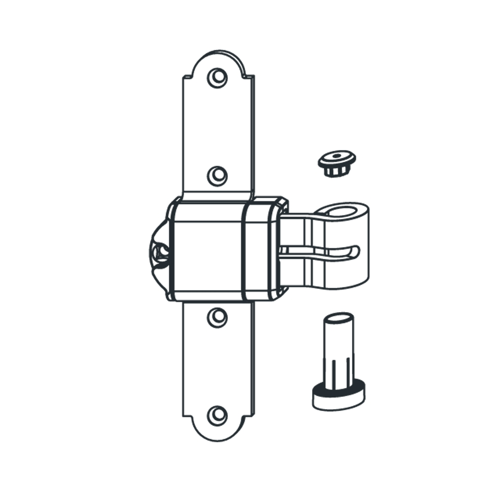 Um Bandquer Stahl Art.10006 ABl; mit Ellenbogen Fester Winkel Ohne Unterstützung