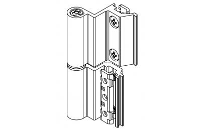 Flash-Scharnier Giesse Basis Third Anta European Chamber für Aluminium