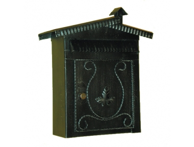 6008 Mailbox mit Dach und Kamin Schmiedeeisen Craft Lorenz Ferart