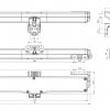 Antrieb Ketten Kato 253 Nekos 24V 250N Stroke Wählbare 240 / 360mm