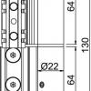 Giesse Scharnier Flash-XL NCI Knoten C002