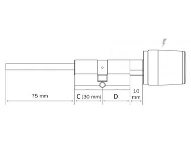 Libra Zylinder Argo App Iseo Gepanzerte Tür öffnen via Smartphone