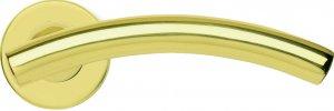 Paar Griffe Ghidini Modell Arco OLV M1 Rosette und Lüftungsöffnungen