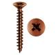 Mustad TSP Panelvit Universal-Bronze überzogene Packung mit Schrauben