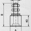 Oliva Zylindrische Messing Savio für Schiebetore Stahl verzinkt