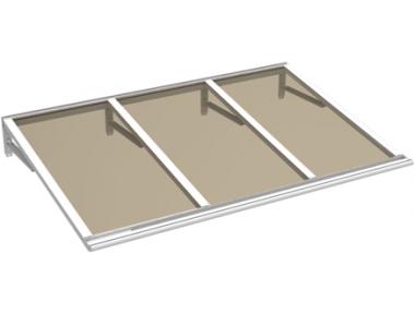 Shelter Lira Weiß Bronze Aluminium AMA Sonnenschutz