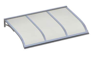 Shelter Vela Aluminium Opal Aluminium AMA Sonnenschutz