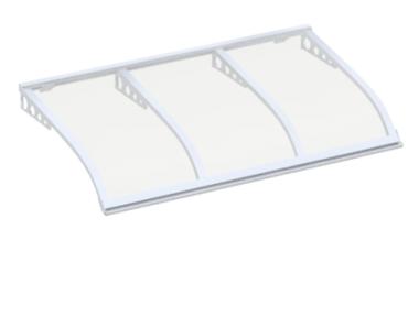 Shelter Segeln Stil Angriff wand weiß Transparent Aluminium AMA