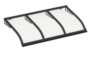 Shelter Segeln Stil Angriff Wand Grau Transparent Aluminium AMA