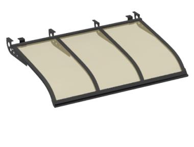 Shelter Segeln Stil Angriff Decken Grau Bronze Aluminium AMA