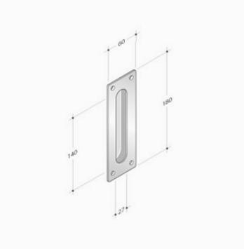 griffe edelstahl pba 2301 f r schiebet ren windowo. Black Bedroom Furniture Sets. Home Design Ideas