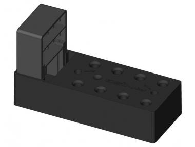 Montageelement Scharniere mit Zwickel für Mäntel bis 140mm ESINPLAST