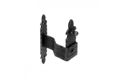 1101/V Shutter Halter 170x30x3mm Zanca einbetten Galbusera Schmiedeeisen