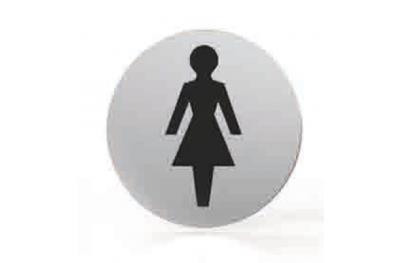 Piktogramm für Düsen Runde Badezimmer WC Frauen Tropex