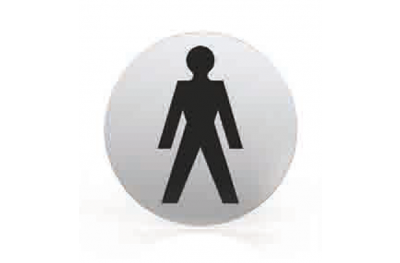Piktogramm für Düsen Runde Badezimmer WC Männer Tropex