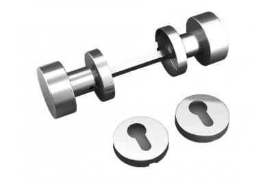 Doppelknaufplans Rahmen mit Lüftungsschlitzen und Edelstahl Tropex