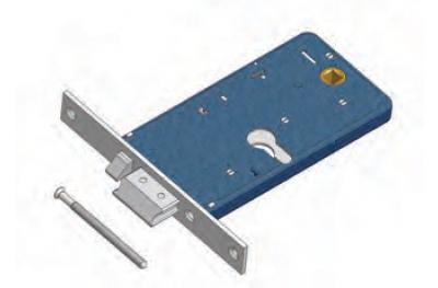 Der Zwischenspeicher mit Durchfluss Omec Elektroschloss in Bereich für Aluminium