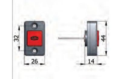 Button mechanische Öffnungs Omec mit Schrauben Elektroschloss in Reichweite