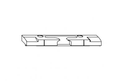 Horizontal spiegeln wider S-ES-FH Siegenia Titan für PVC-Schwelle