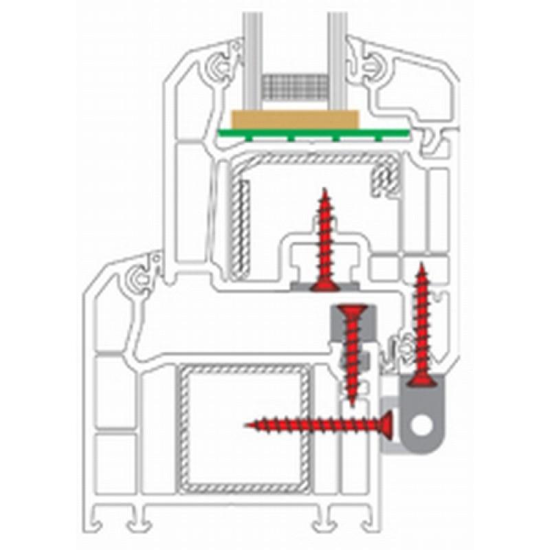 Screws Hardware Power Speed TX PVC Verschiedene Größen 2000pz heicko Segatori
