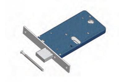 Omec Riegelschloss Bereich für Mechanik Aluminium
