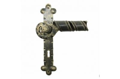 2046 Curl-Handle Schmiedeeisen Türen für die Platte von Lorenz Ferart