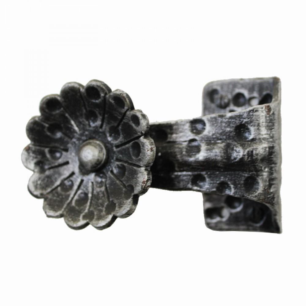 sie suchen einen knopf an der schmiedeeisen bl te form. Black Bedroom Furniture Sets. Home Design Ideas