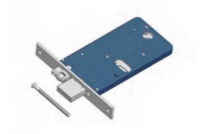 Einstellbare Walze und Riegelschloss für Omec Bereich Mechanik Aluminium