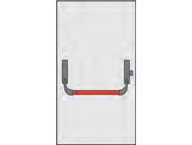 Griff Panic Omec Zusammensetzung für einflügelige Türen verriegeln einen Punkt
