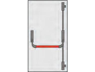 Griff Panic Omec Zusammensetzung Türen Tür zwei oder drei Punkte Closing
