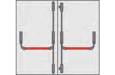 Griff Panic Omec Zusammensetzung Türen zwei Türen vier Punkten schließen