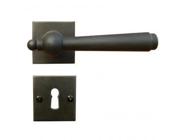 2901 / SQA Modell Monaco Galbraith Griff Tür mit Rosetta und Düse Schmiedeeisen Kunst