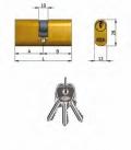 Doppelzylinder Omec Messing Pins Oval 5 L 106mm 53/53