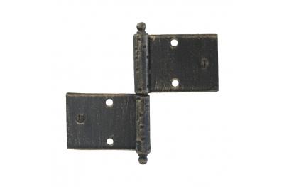 3059 Doppelscharnier für Türen und Möbel Schmiedeeisen Lorenz Ferart