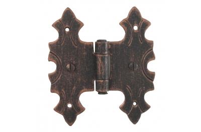 3071 Doppelscharnier für Türen und Möbel Schmiedeeisen Lorenz Ferart