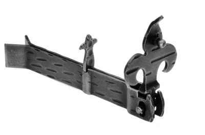 315 Shutter Halter Giglio 170x30x18mm Zanca einbetten Galbusera Schmiedeeisen