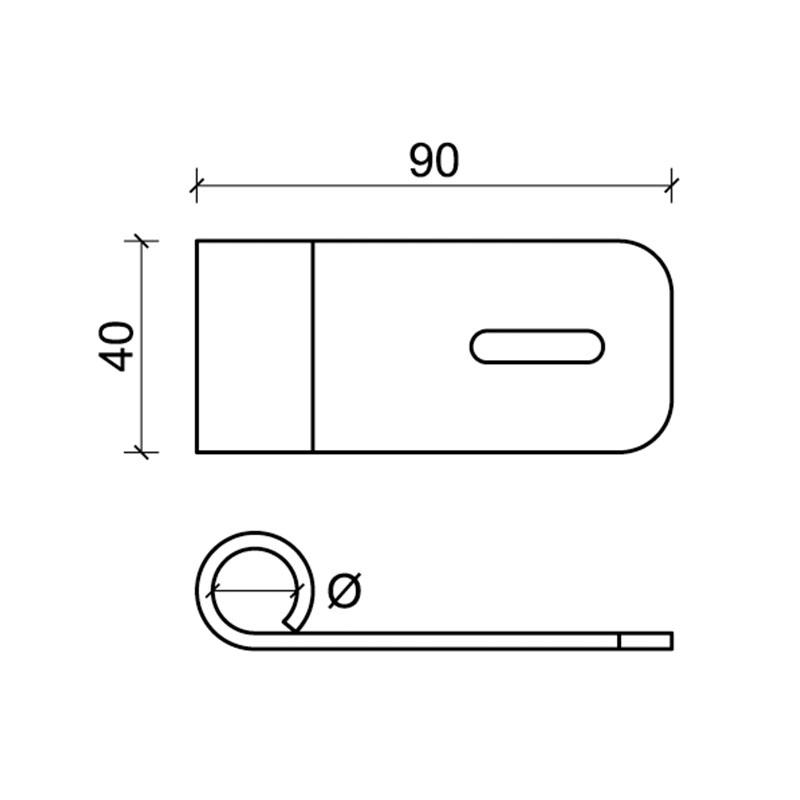 1 CiFALL Puntelletto Doppel gebohrte Platte für Fensterläden Hardware Weitere Maßnahmen