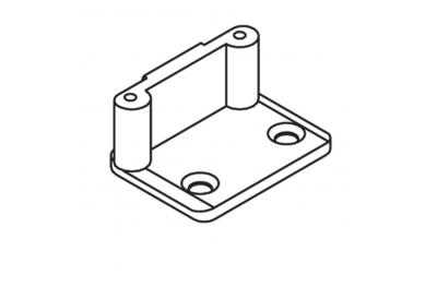 Schließplatte ABl Angle Pins D = 8mm ohne Anker mit Schrauben