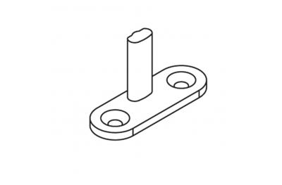Schließplatte ABl 40x14 pin H = 20mm Matt Black