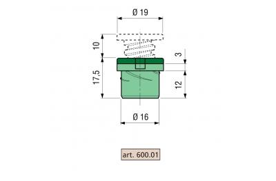 Spacer Proni S-Block-Z / P-Serie 600 Gehäuse aus Zama