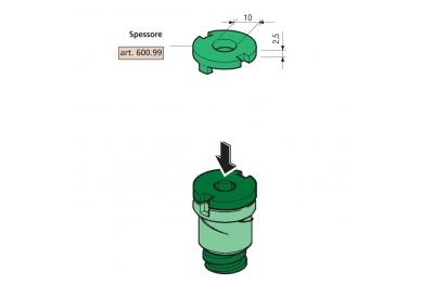 Dicke 2,5 mm Proni für Abstandhalter Kompatible Serie 600 und 800