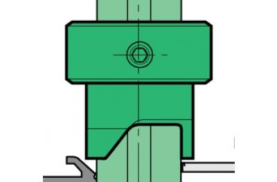 Lamatore Proni Schnellblocktür aus Aluminium und PVC