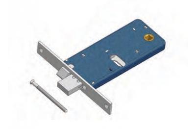 Riegel und Fallenschloss für Omec Bereich Mechanik Aluminium