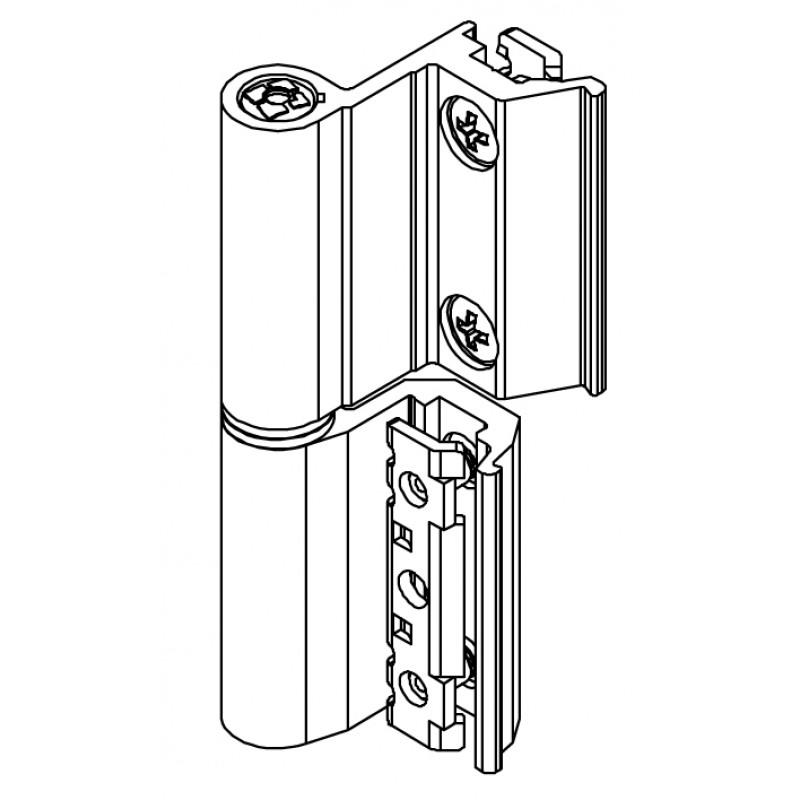 Flash Base Scharnier CE Art.00120U Giesse; Europäische Kammer für Aluminium