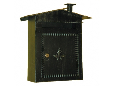 6002 Mailbox mit Dach und Kamin Schmiedeeisen Craft Lorenz Ferart